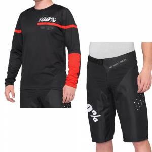 100% R-Core Black Red Motocross Kit Combo 2