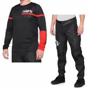 100% R-Core Black Red Motocross Kit Combo