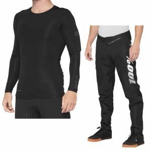 100% R-Core Concept Black Motocross Kit Combo