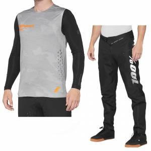 100% R-Core Concept Grey Camo Motocross Kit Combo
