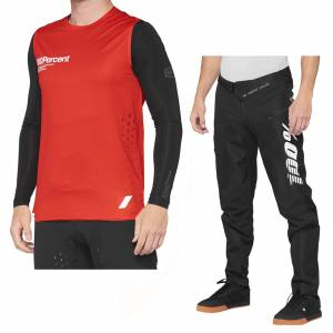 100% R-Core Concept Red Black Motocross Kit Combo
