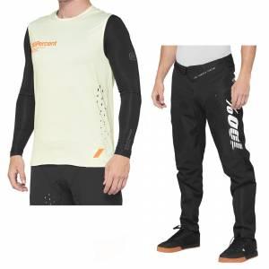 100% R-Core Concept Yellow Black Motocross Kit Combo