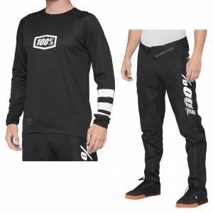 100% R-Core Black White Motocross Kit Combo