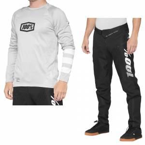 100% R-Core Vapor White Black Motocross Kit Combo