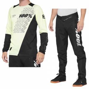 100% R-Core Yellow Black Motocross Kit Combo