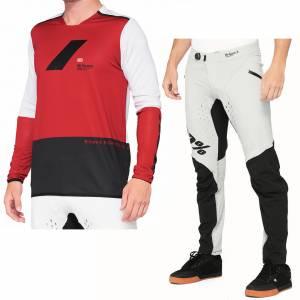 100% R-Core X Cherry Black Motocross Kit Combo