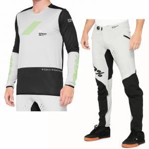 100% R-Core X Vapor Black Motocross Kit Combo