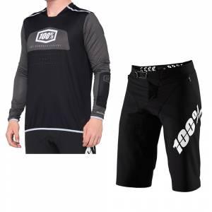 100% R-Core X Black White Motocross Kit Combo 2