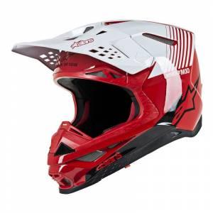 Alpinestars Supertech SM10 Dyno Red White Motocross Helmet