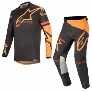 Alpinestars Racer Tech Compass Black Orange Motocross Kit Combo