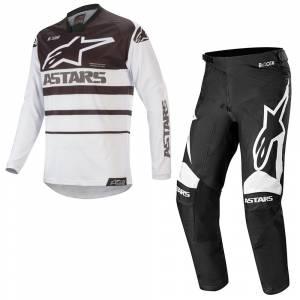Alpinestars Racer Supermatic White Black Motocross Kit Combo