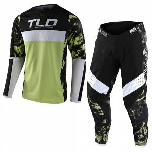 Troy Lee Designs SE Pro Dyeno Glo Green Motocross Kit Combo