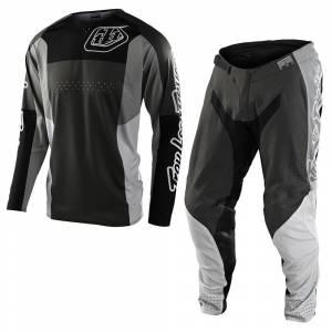 Troy Lee Designs SE Pro Quattro Grey Black Motocross Kit Combo