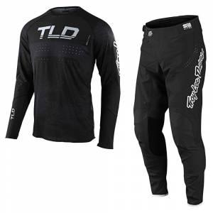 Troy Lee Designs SE Ultra Grime Black Charcoal Motocross Kit Combo