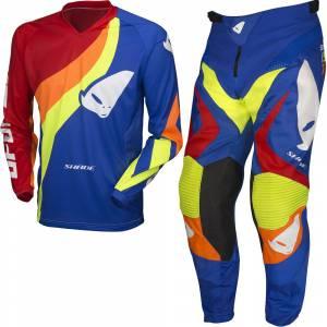 UFO Shade Blue Motocross Kit Combo