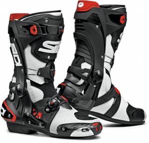 Sidi Rex Air White Black Motorcycle Boots