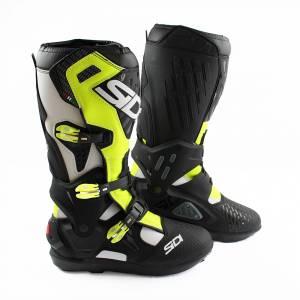Sidi Atojo SRS White Black Yellow Fluo Motocross Boots