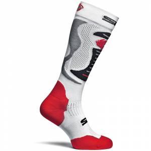 Sidi Faenza White Red Black Socks