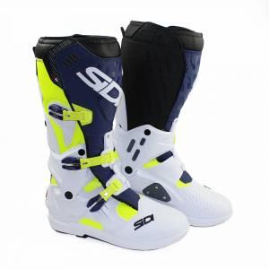 Sidi Atojo SRS Yellow Fluo White Blue Motocross Boots