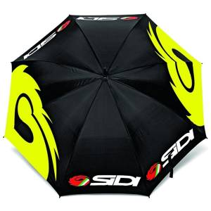 Sidi Motocross Umbrella - Black Fluo Yellow Open