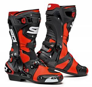 Sidi Rex Red Fluo Black Motorcycle Boots