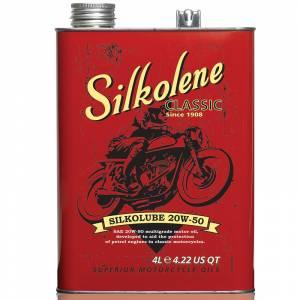 Silkolene Classic Silkolube 20W-50 Mineral Engine oil for Cars & Motorbikes - 4 Litres