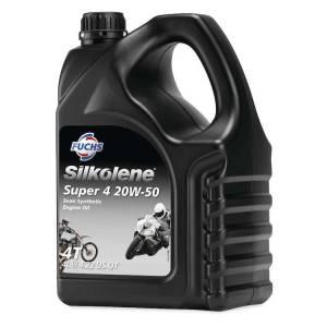 Silkolene Super 4 SAE 20W-50 Semi-Synthetic Engine Oil 4 Litres
