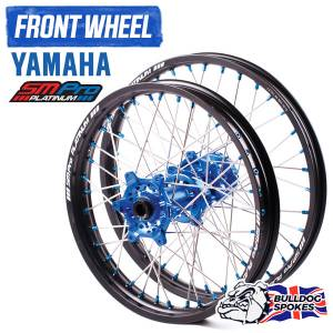 SM Pro Platinum Motocross Front Wheel - Yamaha Blue Black Blue