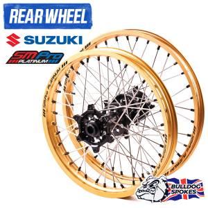 SM Pro Platinum Motocross Rear Wheel - Suzuki Black Gold Black