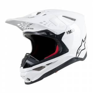 Alpinestars Supertech SM10 Solid White Motocross Helmet
