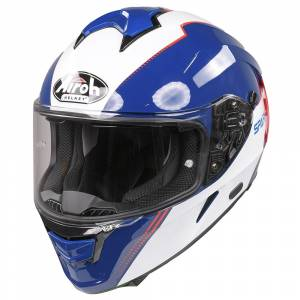 Airoh Spark Flow Blue Red Full Face Helmet