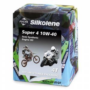 Silkolene Super 4 10W-40 Lube Cube 4 Litre