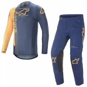 Alpinestars Supertech Foster Navy Orange Motocross Kit Combo