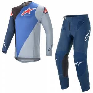 Alpinestars Supertech Blaze Blue Black Motocross Kit Combo