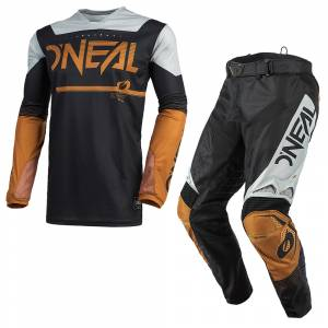 ONeal Hardwear Surge Black Brown Motocross Kit Combo