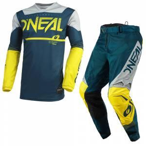 ONeal Hardwear Surge Blue Grey Motocross Kit Combo