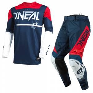 ONeal Hardwear Surge Blue Red Motocross Kit Combo