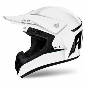 Airoh Switch Plain White Motocross Helmet