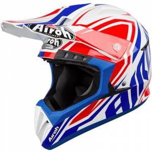 Airoh Switch Impact Blue Motocross Helmet
