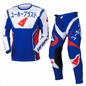 UFO Takeda Blue Red Motocross Kit Combo