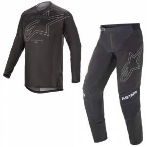 Alpinestars Techstar Phantom Black White Motocross Kit Combo