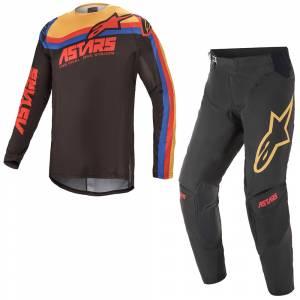 Alpinestars Techstar Venom Black Bright Red Orange Motocross Kit Combo