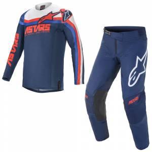 Alpinestars Techstar Venom Blue Red White Motocross Kit Combo