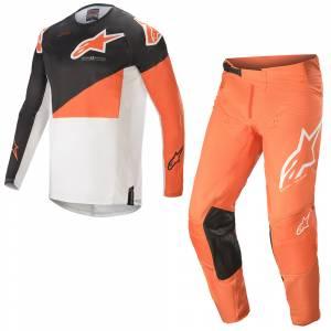 Alpinestars Techstar Factory Anthracite Orange White Motocross Kit Combo
