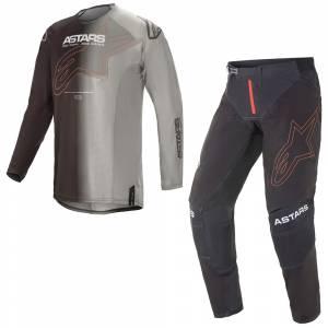 Alpinestars Techstar Phantom Anthracite Orange Motocross Kit Combo