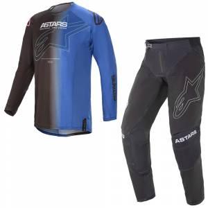 Alpinestars Techstar Phantom Black Blue Motocross Kit Combo