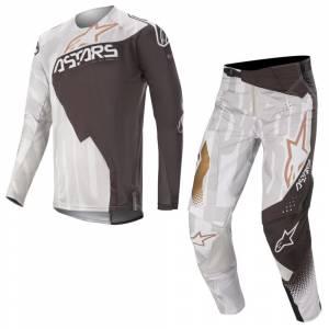 Alpinestars Techstar Factory Metal Grey Black Copper Motocross Kit Combo