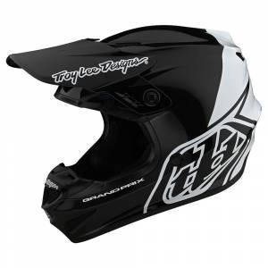 Troy Lee Designs GP Block Black White Motocross Helmet