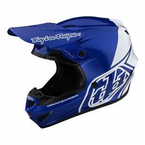 Troy Lee Designs GP Block Blue White Motocross Helmet