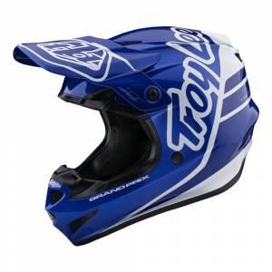 Troy Lee Designs GP Polyacrylite Silhouette Navy White Motocross Helmet
